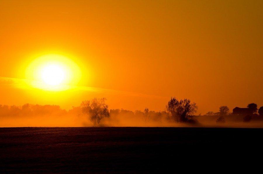 Orange Sunset 2 Illinois William Woodward