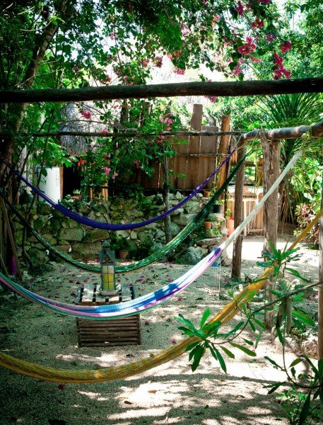 Hammocks in Shade Mexico William Woodward