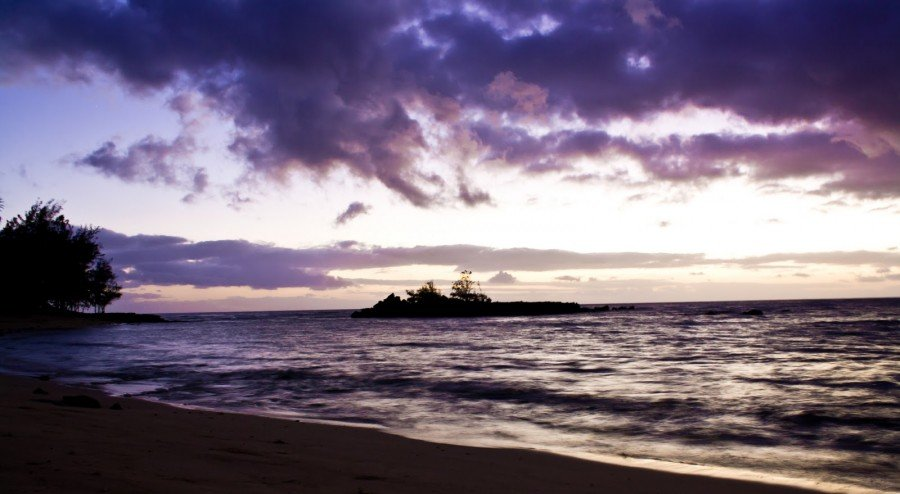 Purples Sunset Oahu William Woodward