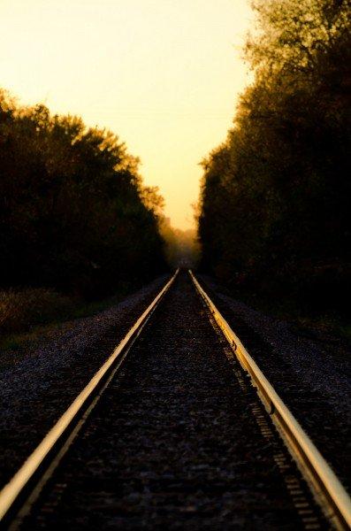 Sunset Tracks Illinois William Woodward