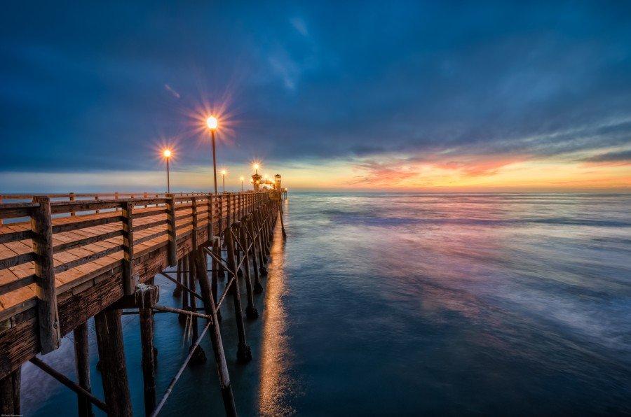 Oceanside Sunset California William Woodward