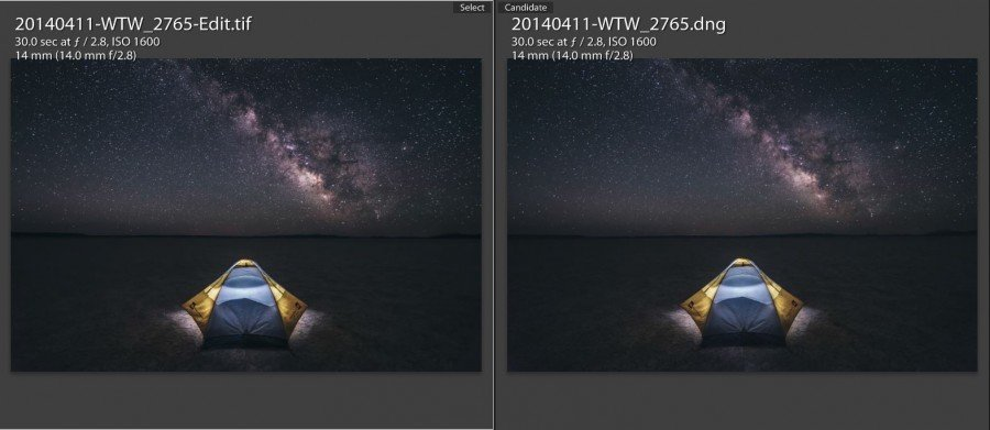 Star Photography Tutorial - Before and After Photoshop