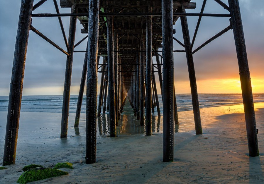 Night at Pier California William Woodward