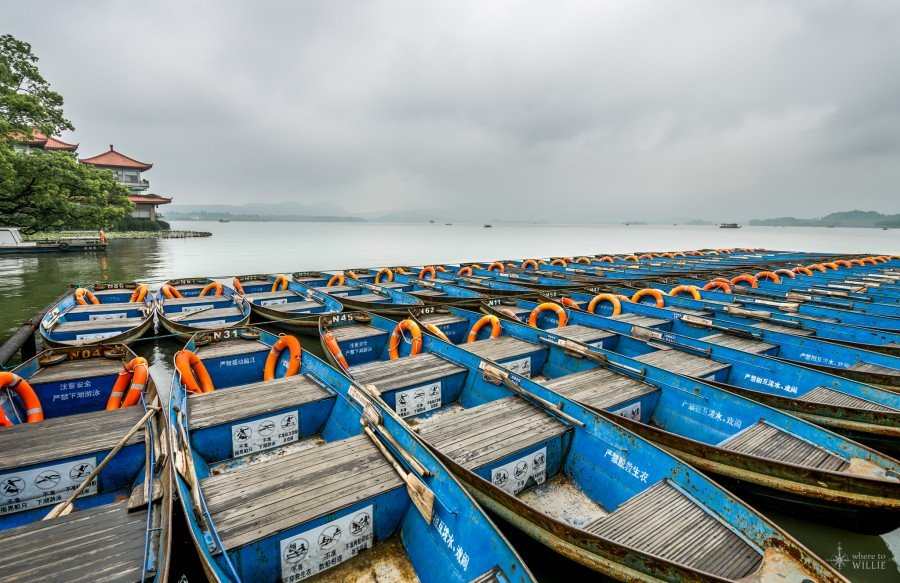 Boats Hangzhou william woodward