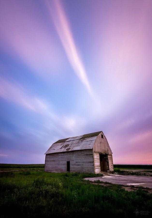 long exposure barn sunset william woodward