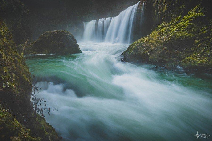 spirit falls washington waterfall oregon william woodward