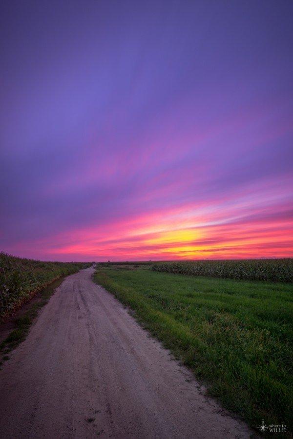 illinois long exposure sunset travel william woodward