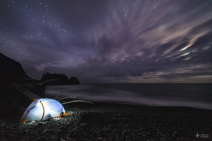 ruby beach camping under the stars william woodward
