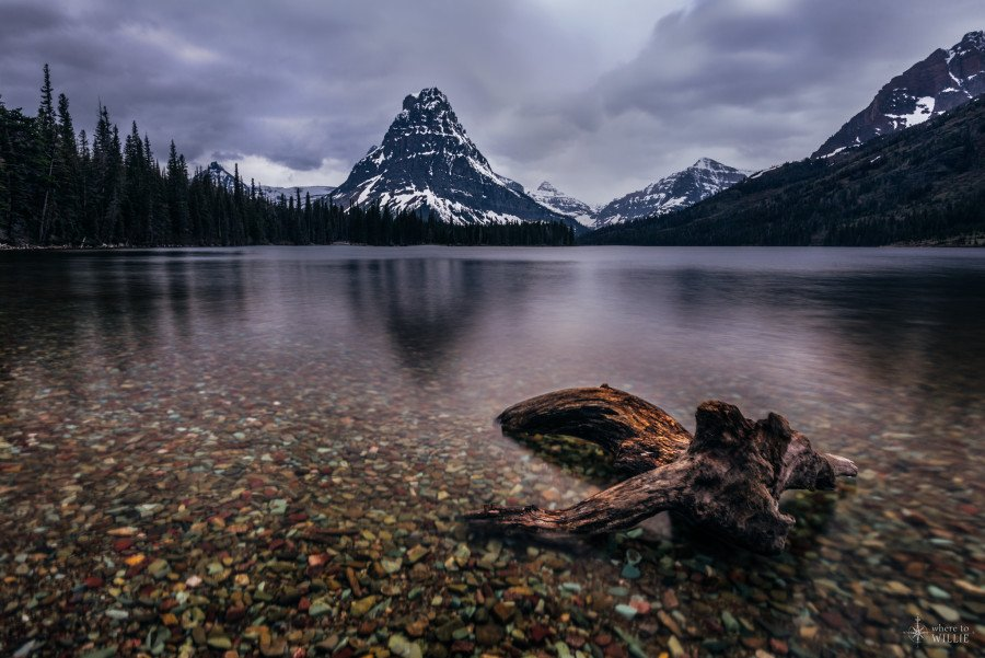 two medicine lake glacier national park montana mountain water reflection