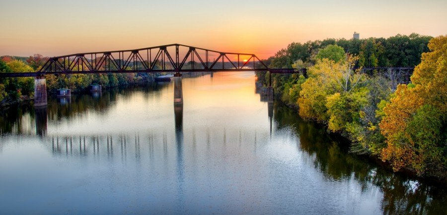 Sunset Railroad Bridge Tuscaloosa William Woodward