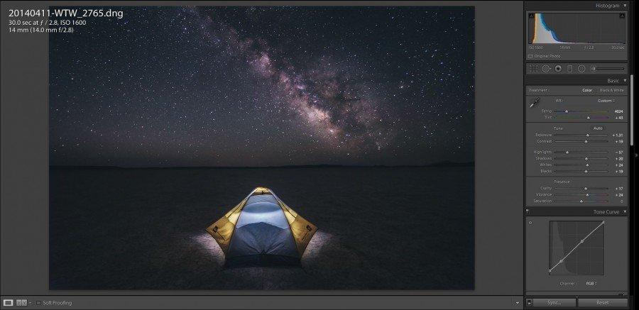 Star Photography Tutorial - Lightroom Edits