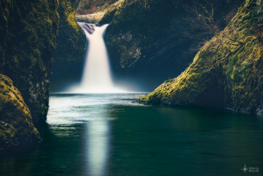 punchbowl falls oregon eagle creek waterfall william woodward