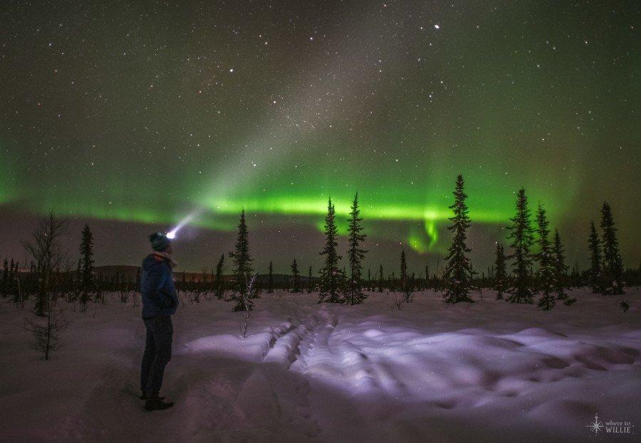 aurora borealis northern lights little chena river william woodward