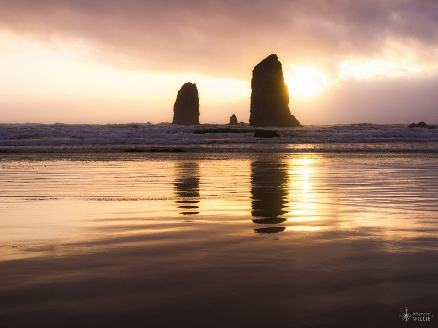 haystack rock cannon beach oregon william woodward
