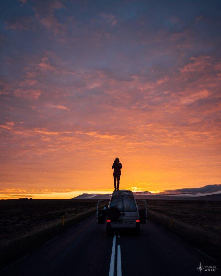Iceyland Iceland Road Sunrise